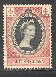 British Guiana Sc # 252 used (DT)