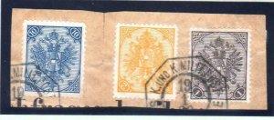 ÖSTERREICH BOSNIEN 1900. Zweiwährungsporto 2 + 10 Kreuzer + 1 Heller