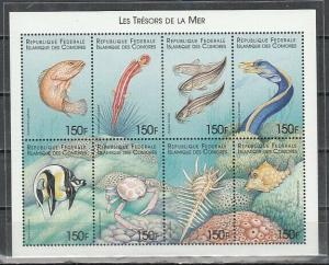 Comoro Is., Issue. Various Marine Life sheet of 8.