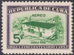1952 Cuba Stamps Sc C57 Country School  NEW