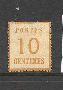 ALSACE & LORRAINE  1870  10c  BRISTRE  MH  TYPE 2  SG 25