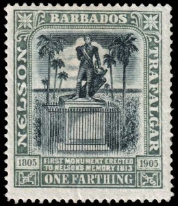 Barbados - Scott 102 - Mint-Hinged - Crease