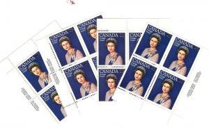 Canada, 704, Queen Elizabeth II,Matched Plate Blocks(4), MNH