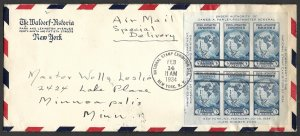 Doyle's_Stamps: 1934 National Stamp Exhibition Souvenir Sheet on Cover