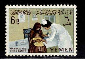 Yemen Scott 133 MH* 1962 Nurse stamp