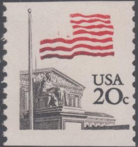 #1895g FLAG OVER SUPREME COURT DARK BLUE OMITTED MAJOR ERROR CV $1,200 WL804A