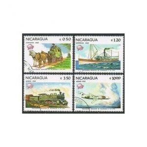Nicaragua 1157-1158,C1005-C1006,CTO.Michel 2268-2271. UPU Membership-100.1982.