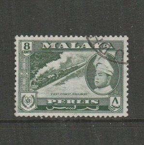 Malaya Perlis 1957/62 Defs 8c FU SG 33