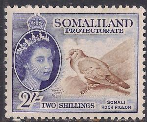 Somaliland 1953 - 58 QE2 2/-d Blue & Brown MM SG 146 ( R1040 )