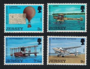 Jersey MNH 81-4 History Of Aviation 1973