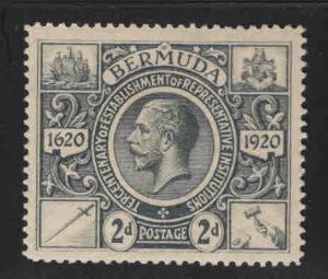 BERMUDA Scott 74 MH* KGV stamp