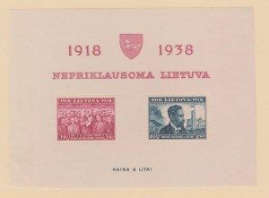 Lithuania Scott #309a Stamp - Mint Sheet