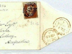 GB WALES SG.21 Cover 1855 Newport Mon Numeral sc16 1d Cat £110+ {samwells}CT109