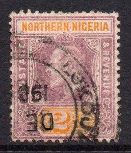 Northern Nigeria 1905 EDVII 2d chalk paper wmk MCCA SG 22a used.