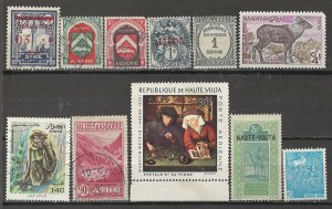 COLLECTION LOT # 5008 FRENCH COLONIES A-C 11 STAMPS  1928+ CV+$21
