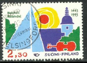 FINLAND 1993 2.30m NAANTALI Anniversary Issue Sc 912 VFU