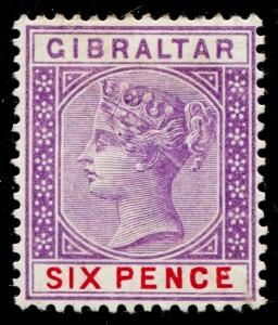 GIBRALTAR SG44, 6d violet & red, M MINT. Cat £42.