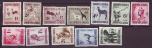 J19059 Jlstamps 1954 south west africa set mh #249-60 designs wmk 201