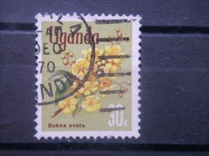 UGANDA, 1969, used 30c, Flowers Scott 119