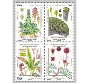 2021 FSAT Kerguelen Flora MS4 (Scott NA) MNH