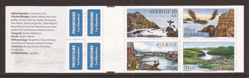 Sweden scott #2503 cmplt bklt m/nh stock #35420