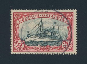 GERMAN EAST AFRICA 1900, 3Rs-SIGNED(2) VF USED Sc#21 CAT$300 (SEE BELOW)