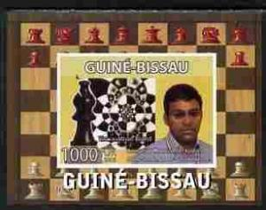 Guinea Bissau 2008 CHESS MASTER Wiswanathan Anand Deluxe s/s Mint (NH) #1