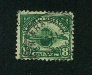 US 1923 8c dark green Air Mail, Scott C4 used, Value = $12.50