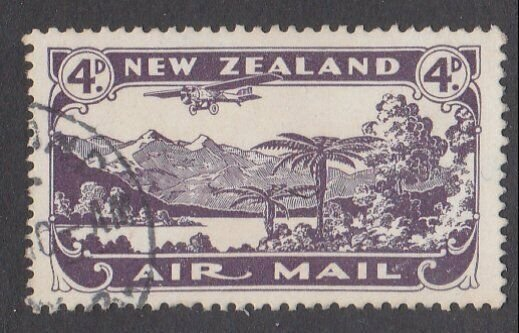 NEW ZEALAND 1931 4d airmail fine used - ACS cat NZ$30.......................M440