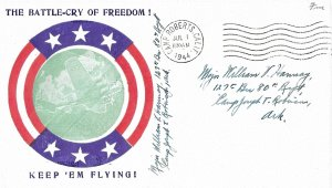 Jul 1 1944 WWII Patriotic Cover, The Battle-Cry of Freedom, Poppenger #7473