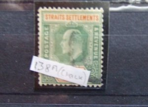 Straits EVII 1904 $5 dull green & brown orange SG138a