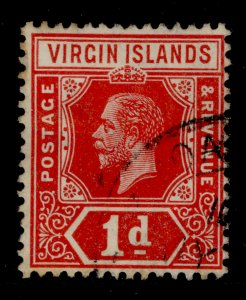 BRITISH VIRGIN ISLANDS GV SG70, 1d deep-red, USED. Cat £11.