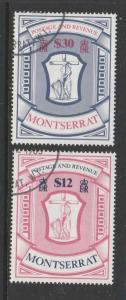 Montserrat 1983 High value Arms, FU/CTO SG 575/576