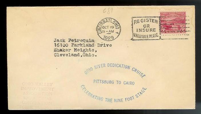UNITED STATES FDC #681 Oct 19 1929 Cincinnati