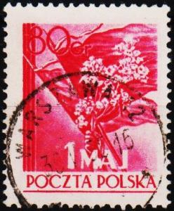 Poland. 1954 80g S.G.851 Fine Used