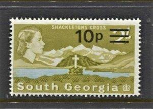 STAMP STATION PERTH -South Georgia #27 MNH OG VF Overprint Definitive Issue