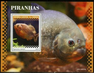 SIERRA LEONE 2019 PIRANHAS  SOUVENIR SHEET MINT NEVER HINGED