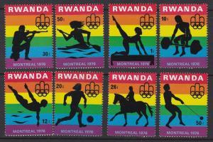 Rwanda # 762-769, Montreal Olympics, NH, Half Cat.