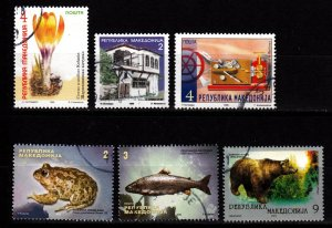 Macedonia 6 different used