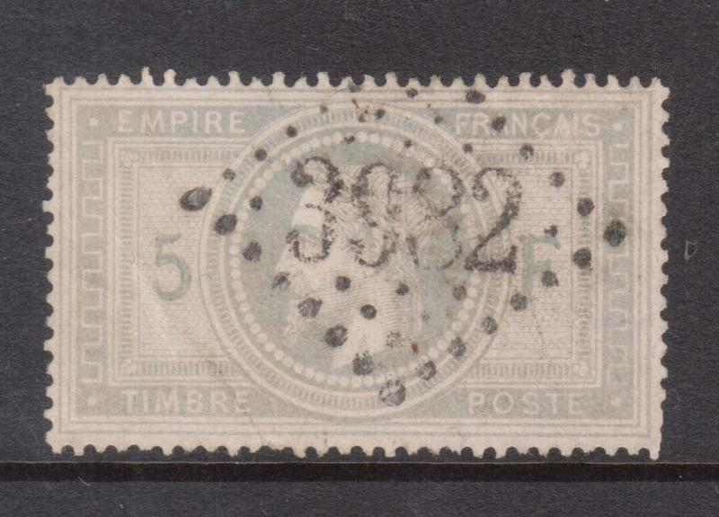France #37 VF Used With Nice Rare 3932 Dot Cancel