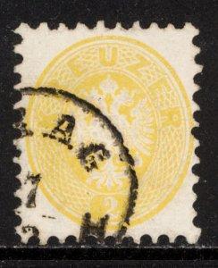 Austria 1864  Scott #22 perf 9 1/2 used (CV 15.00)