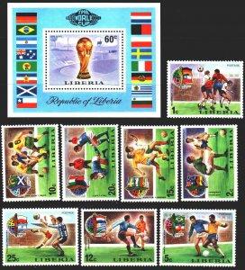 Liberia. 1974. 921-28, bl 72A. Football. MNH.