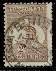 AUSTRALIA GV SG12, 2s brown, FINE USED. Cat £85.