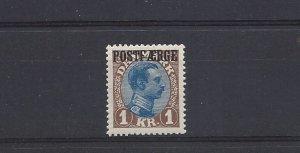 Denmark, Q9, King Christian X Parcel Post Ovpt. Single, MNH