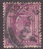 India 68 Hinged Used 1902 King Edward VII