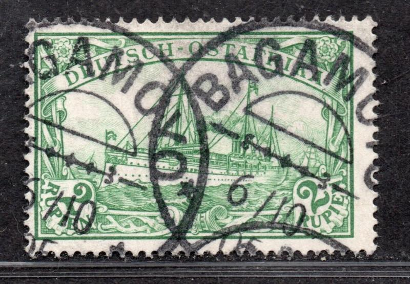 **German East Africa, SC# 20 Used FVF+ Signed BPP Bagamoyo CDS, CV $80.00