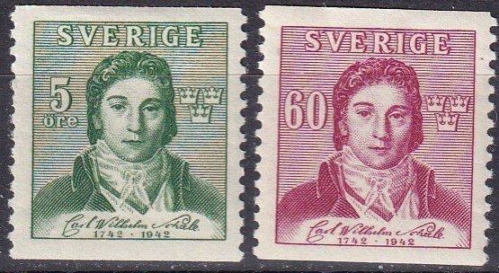 Sweden #336-7 F-VF Unused CV $7.25  (Z5244)