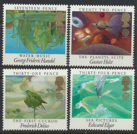 GB SG 1282 - 1285  SC# 1103-1106 Mint Never Hinged - Europa Music Composers