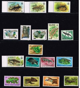 WILD LIFE MNH STAMP COLLECTION LOT