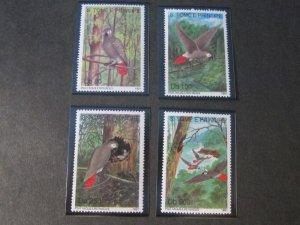 St. Thomas & Prince Islands 1991 Sc 986-9 Bird set MNH